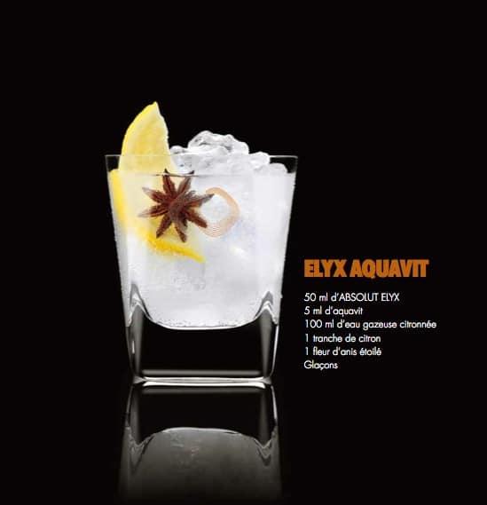 Cocktail Absolut Elyx 1