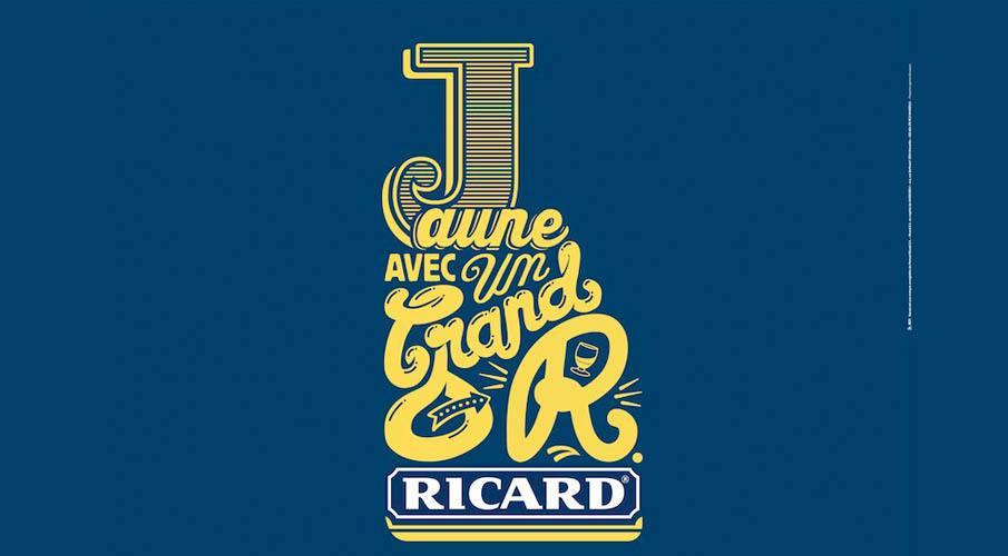 Ricard Jaune avec un Grand R