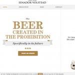 Bière Senador Volstead : un site Web où le produit est caché !