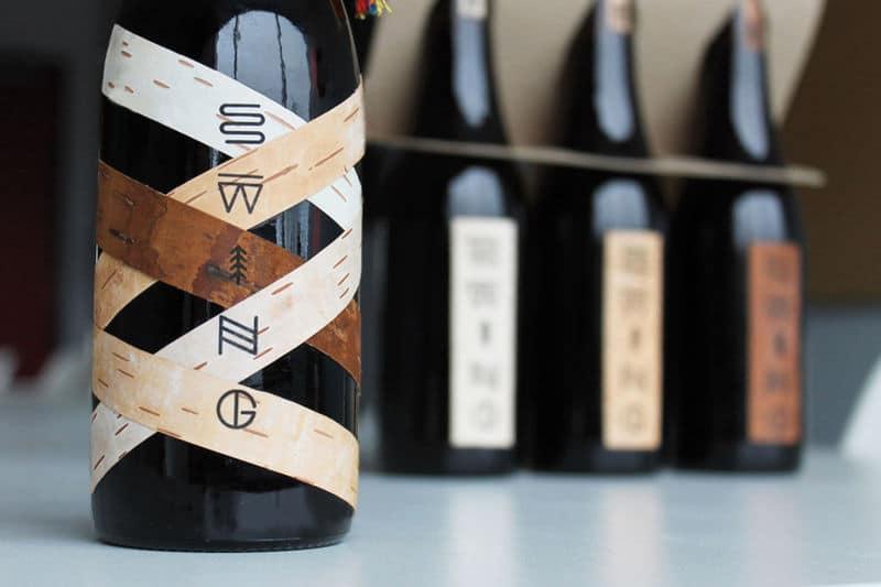 Packaging bière bois