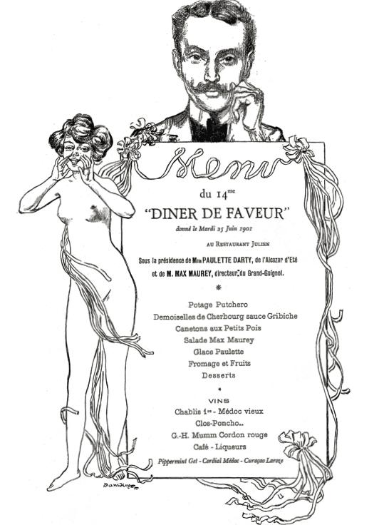 Les menus de Faveur G.H Mumm Champagne