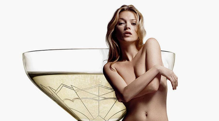 Kate Moss coupe Champagne