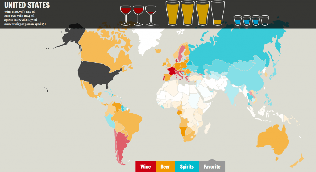 Carte alcool interactive
