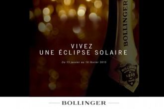 Eclipse Solaire Bollinger Champagne