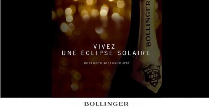 Eclipse Solaire Bollinger Champagne