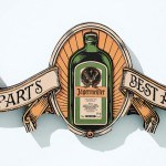 Jägermeister et ses 56 ingredients en illustration