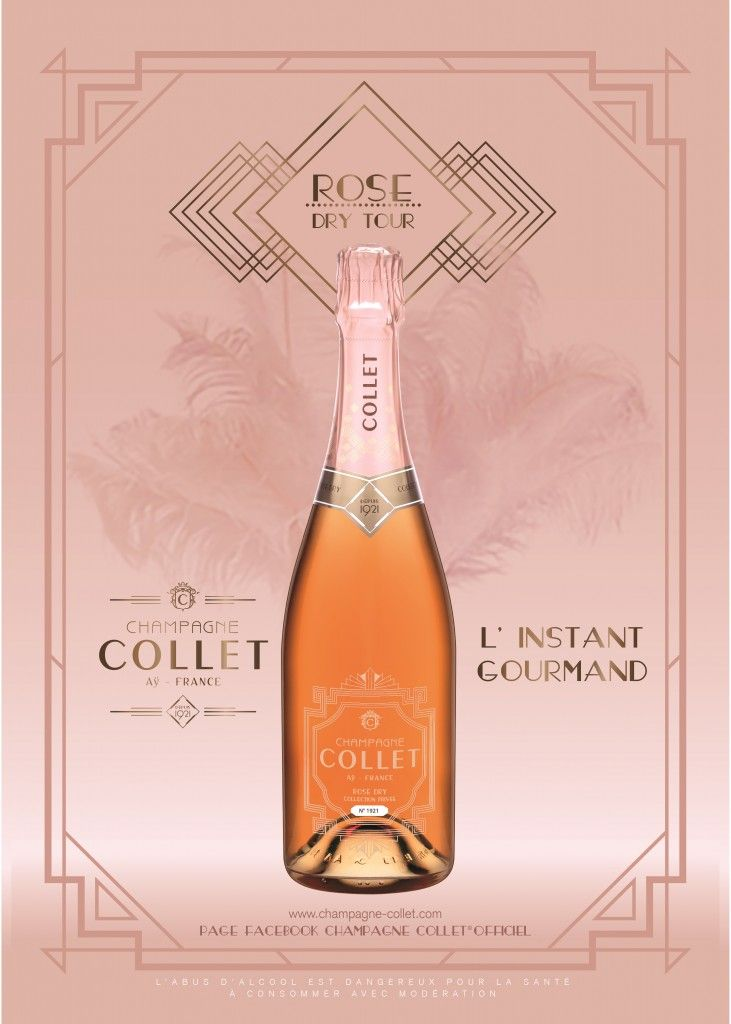 Champagne Collet rosé dry