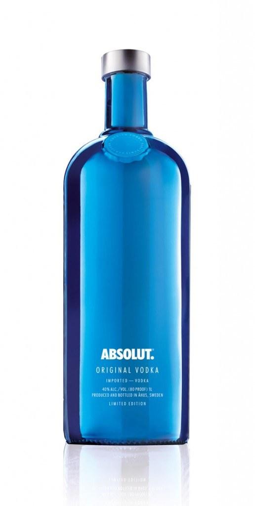 Bouteille bleue Absolut éd limitée 15-1
