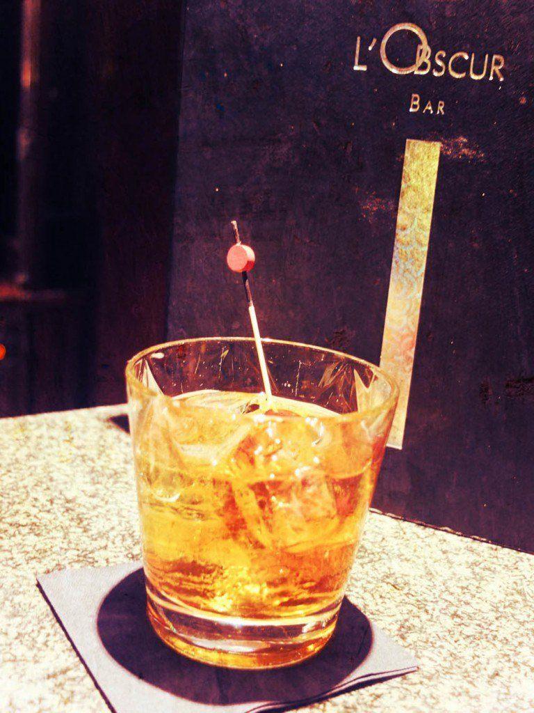 Obscur bar Scribe cocktail paris