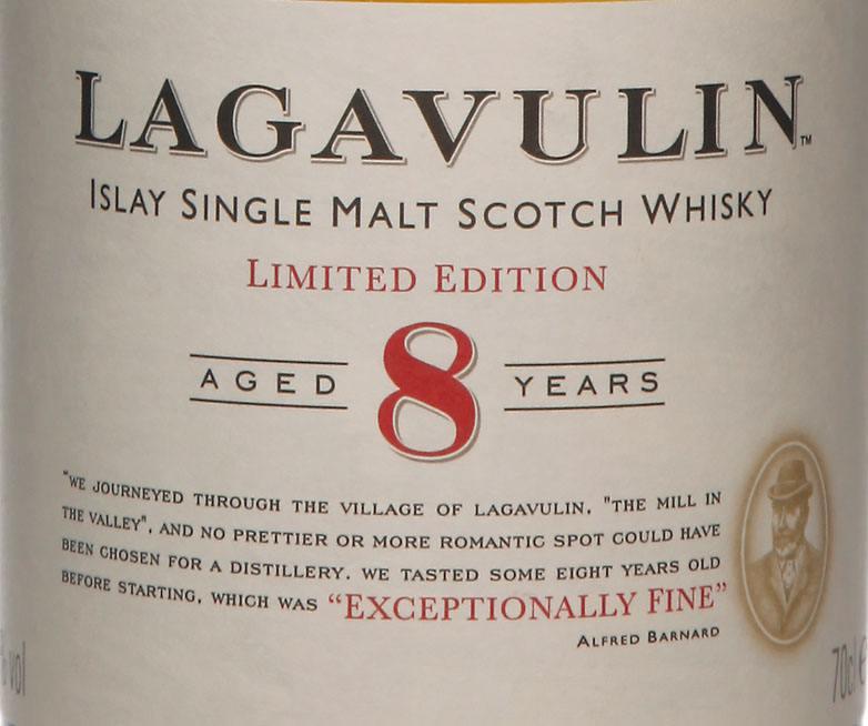 Lagavulin 8 ans - Etiquette