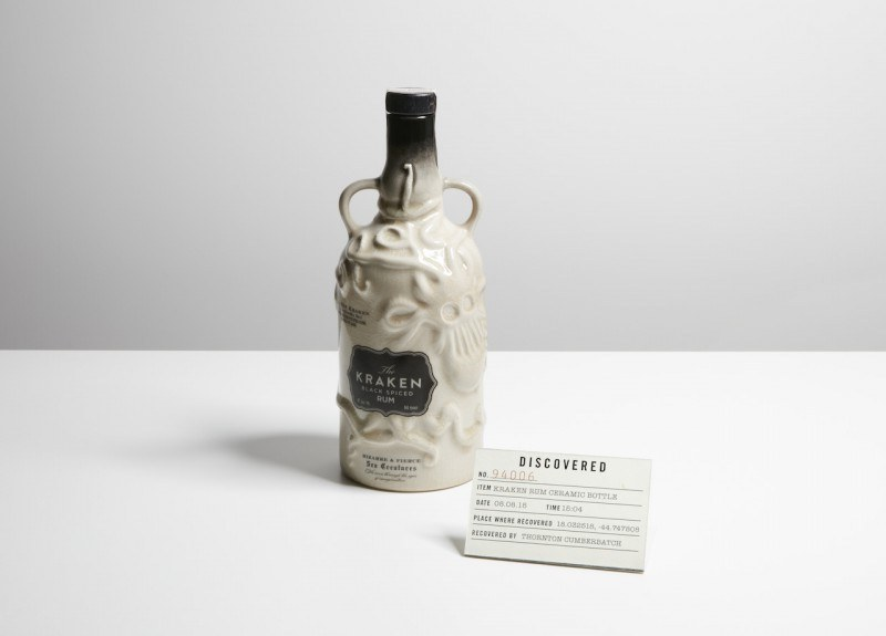 The Kraken Ceramic Bottle white edition
