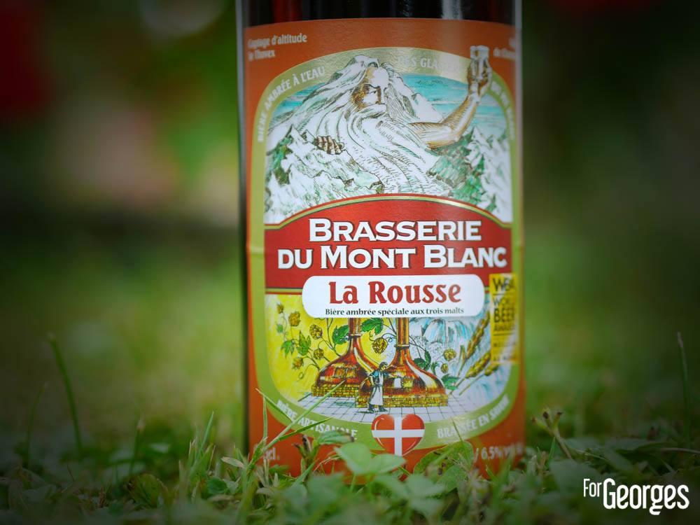 Brasserie Du Mont Blanc bière rousse
