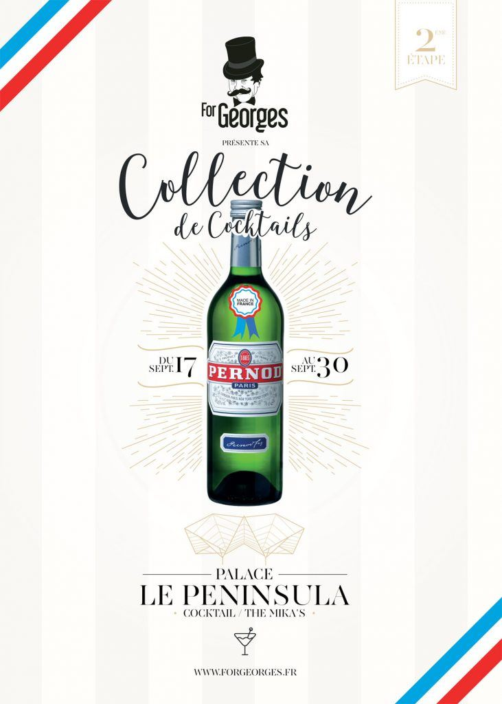 Collection de cocktail ForGeorges Peninsula Paris