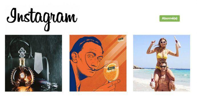 Les marques d'alcool sur Instagram