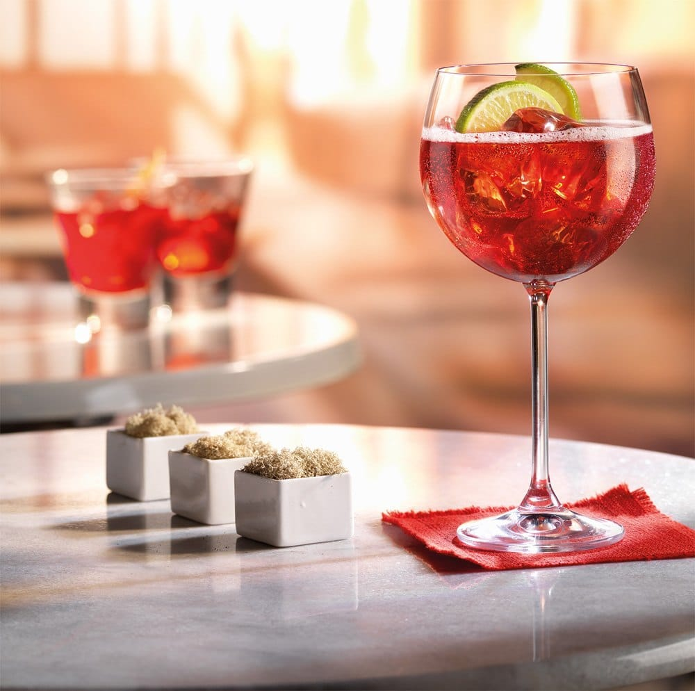 Campari Tonic cocktail