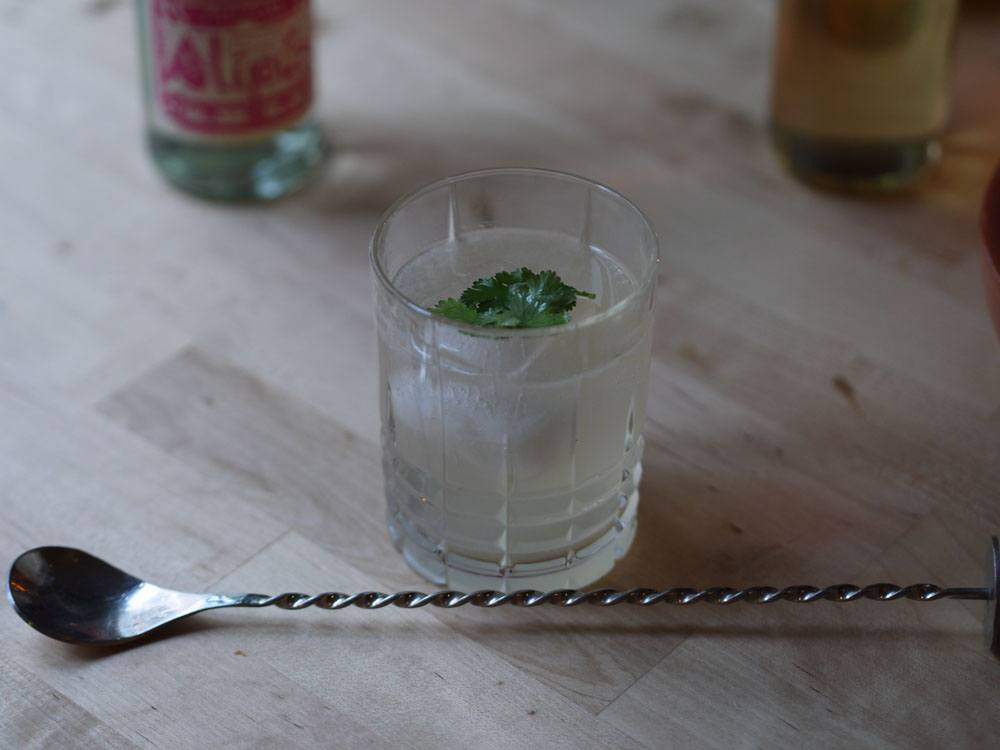 Cocktail au mezcal simple