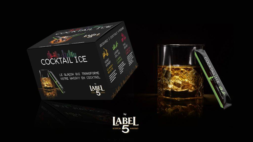 Label 5 glaçon cocktail