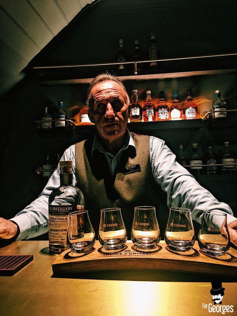Dégustation Strathisla à la distillerie