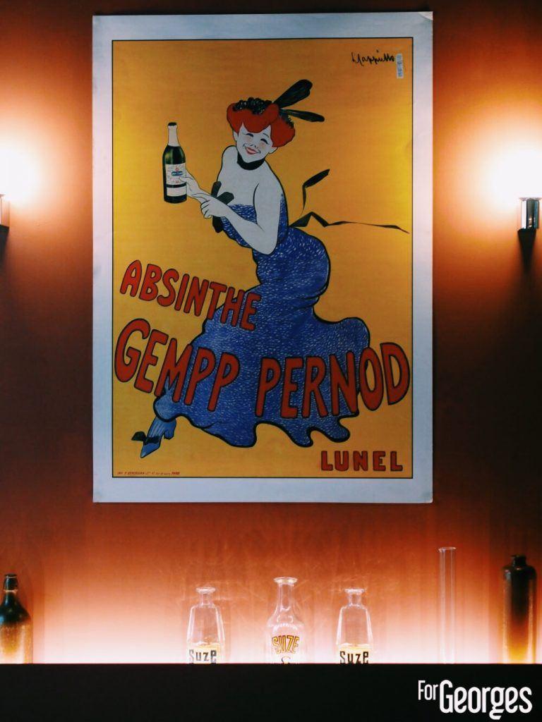 Absinthe Pernod affiche Vintage