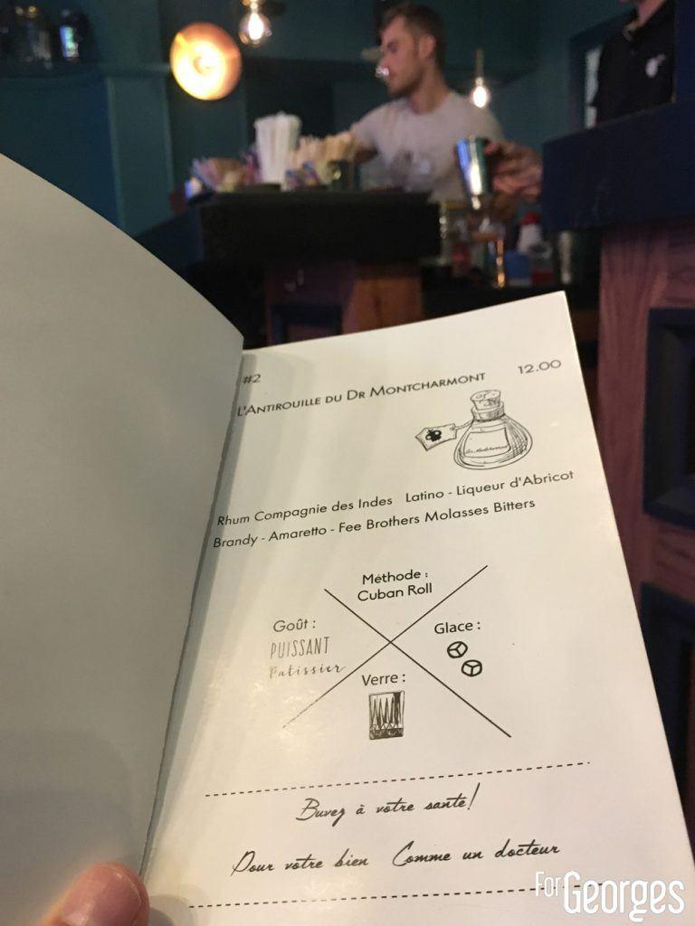 Antirouille cocktail menu Dijon