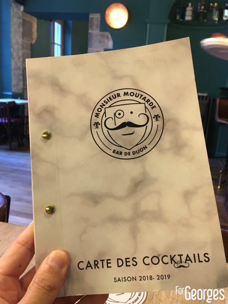 Menu du bar Monsieur Moutarde Dijon