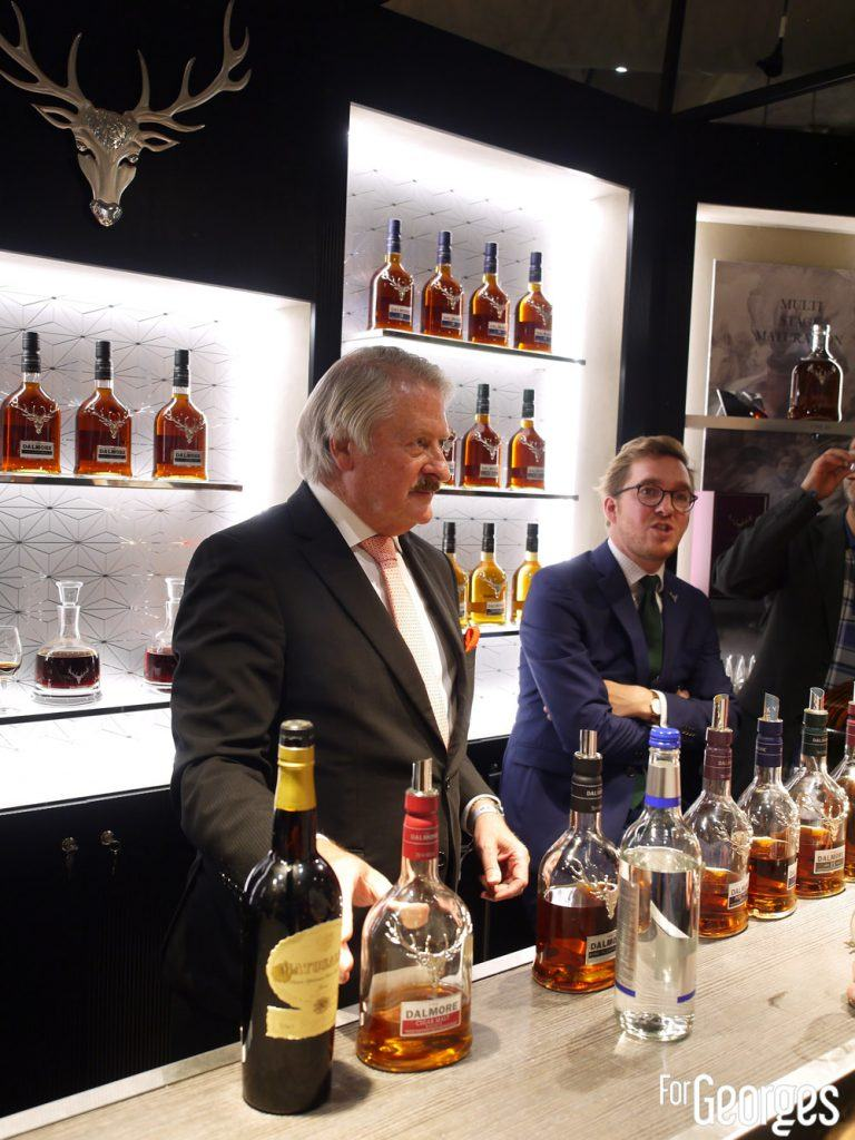 Richard Paterson alias The nose sur le stand The Dalmore - Whisky live Paris