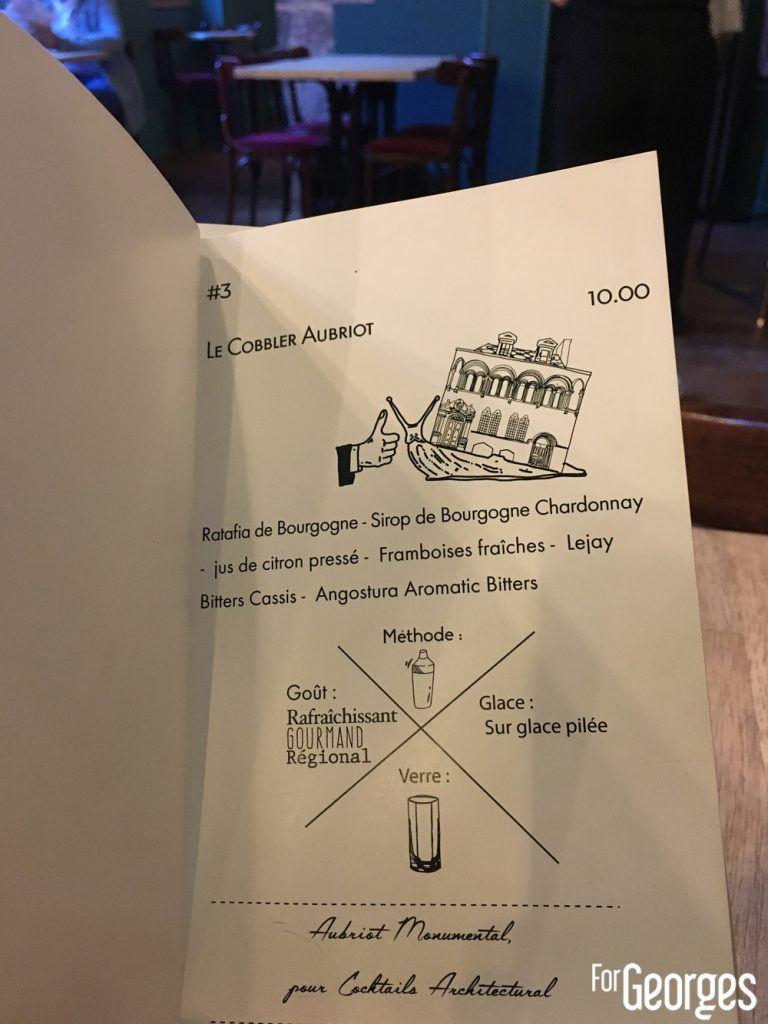 cobller cocktail bar Mister Moutarde