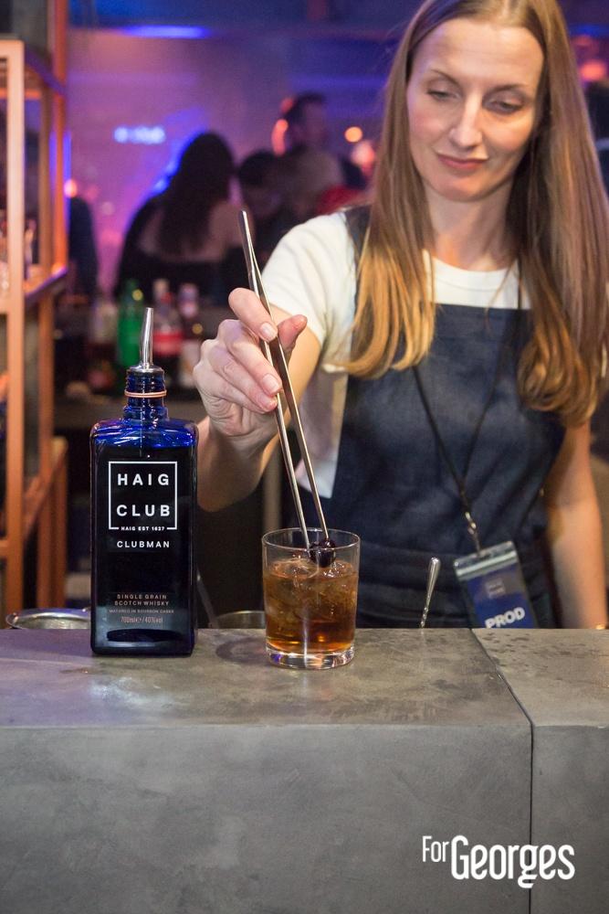 Haig Club Clubman soirée de lancement préparation cocktail