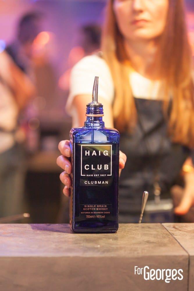 Haig Club Clubman soirée de lancement focus bouteille