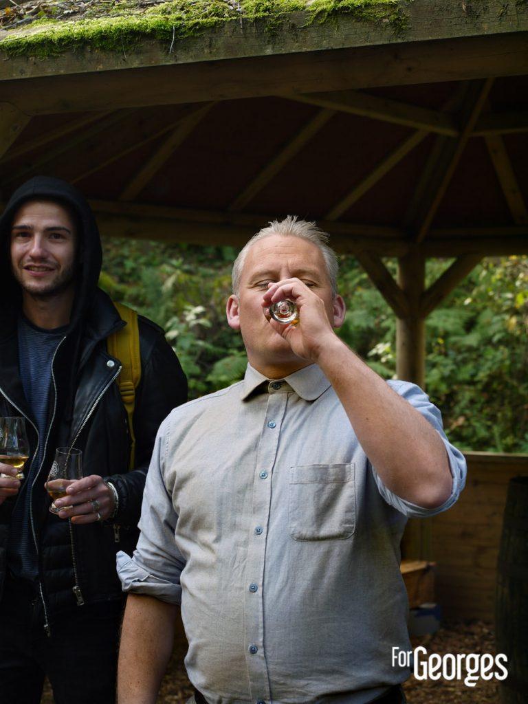 Tommy Dewar à la distillerie