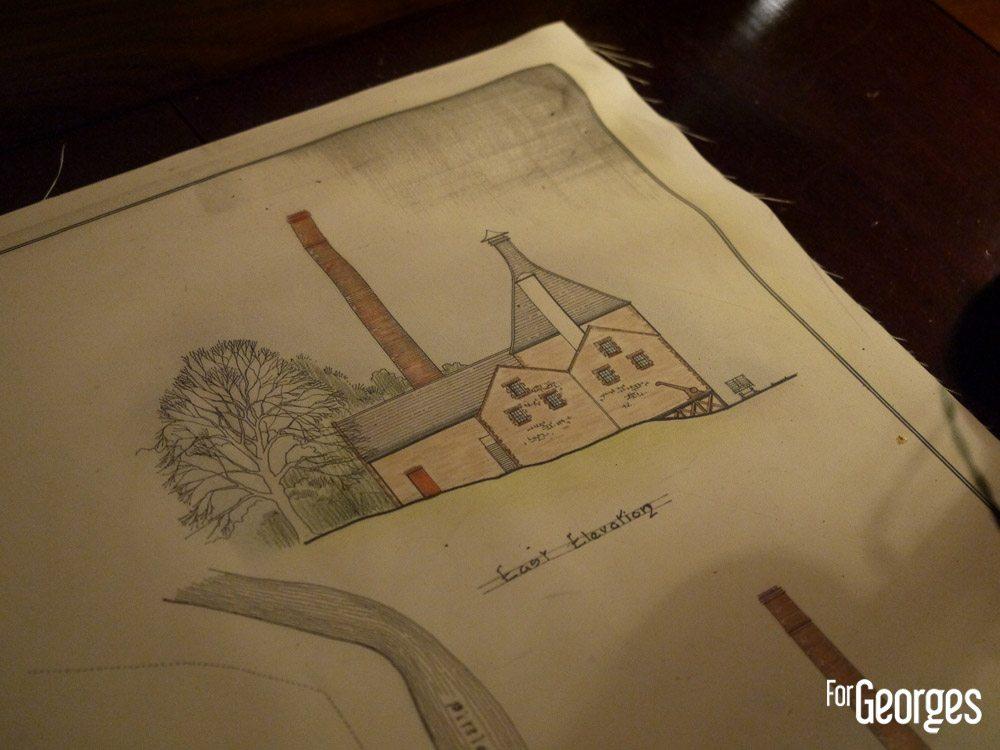 Croquis de la distillerie Dewar's