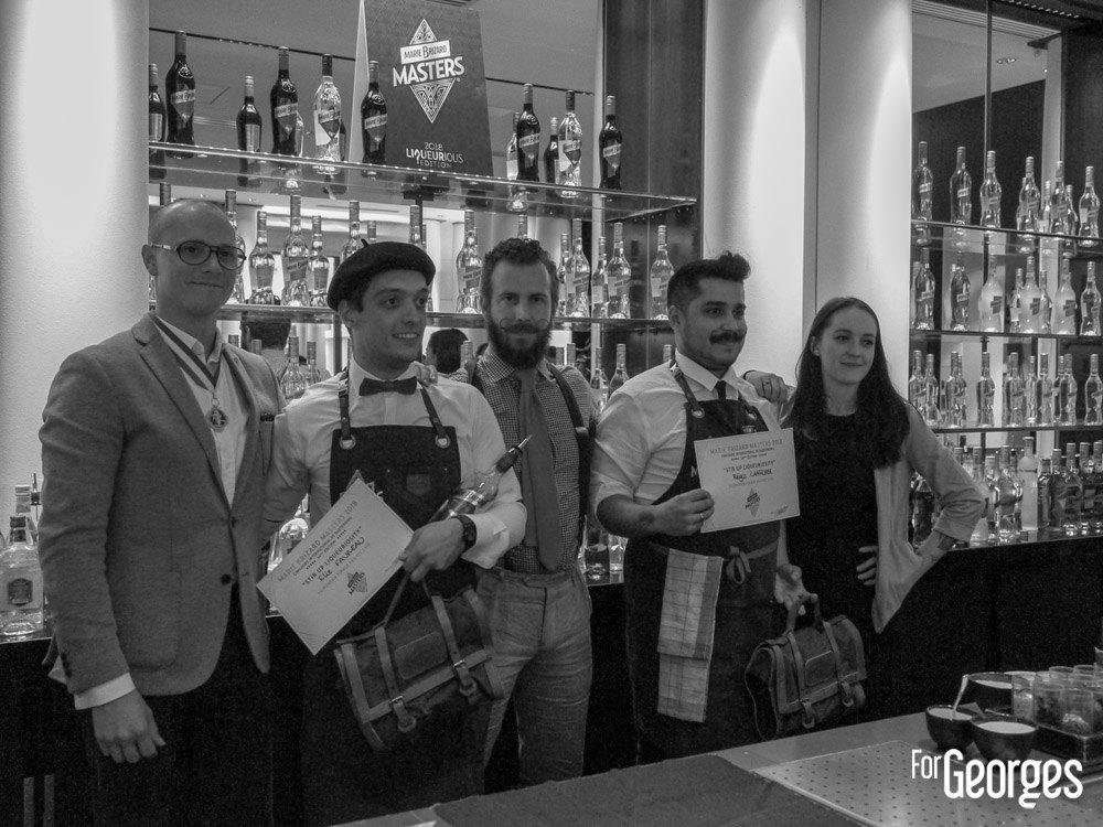 Les gagnants avec les membres du jury - Marie Brizard Masters 2018