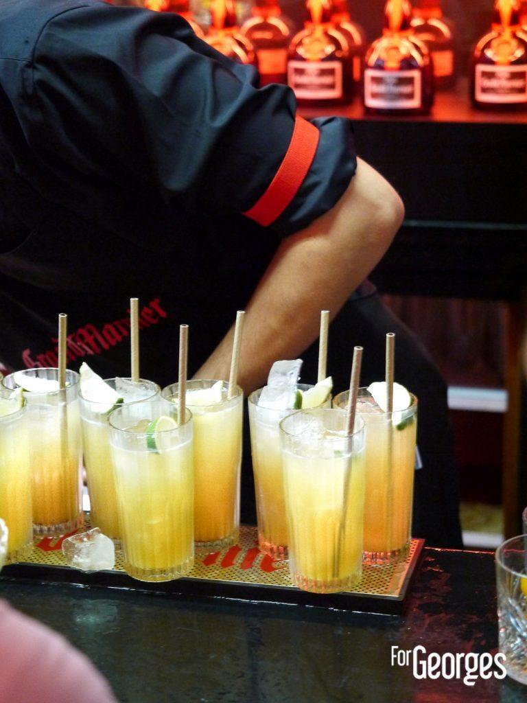 Cocktails Grand Marnier à soirée Grande Maison