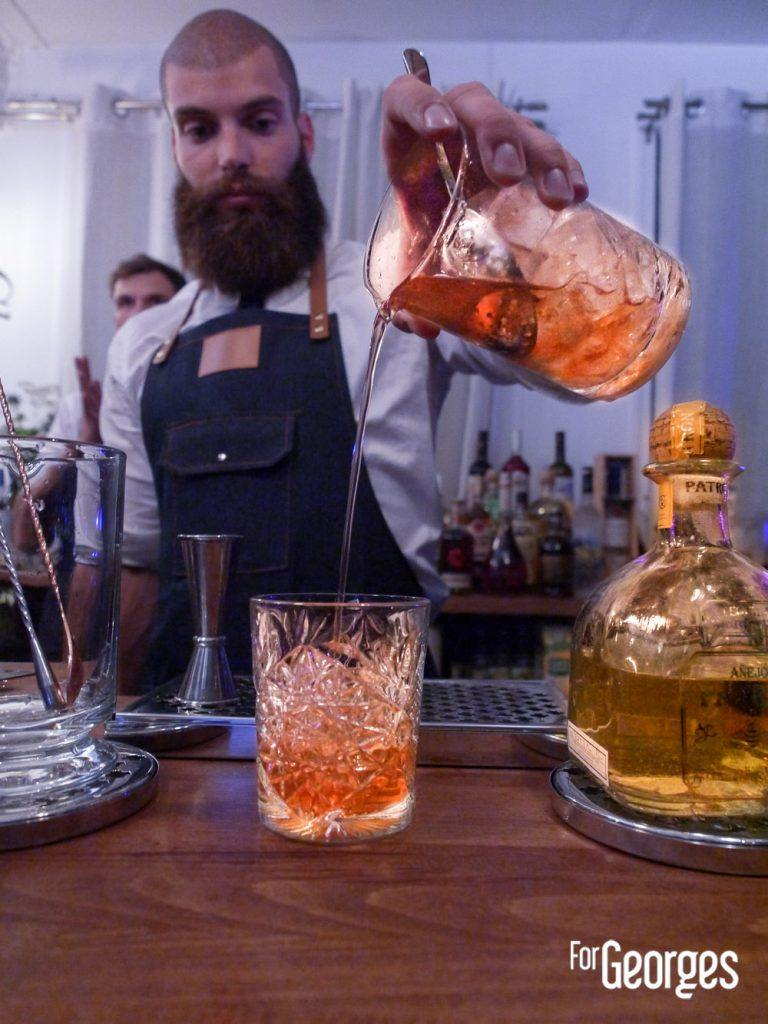Old fashioned Tequila cocktail