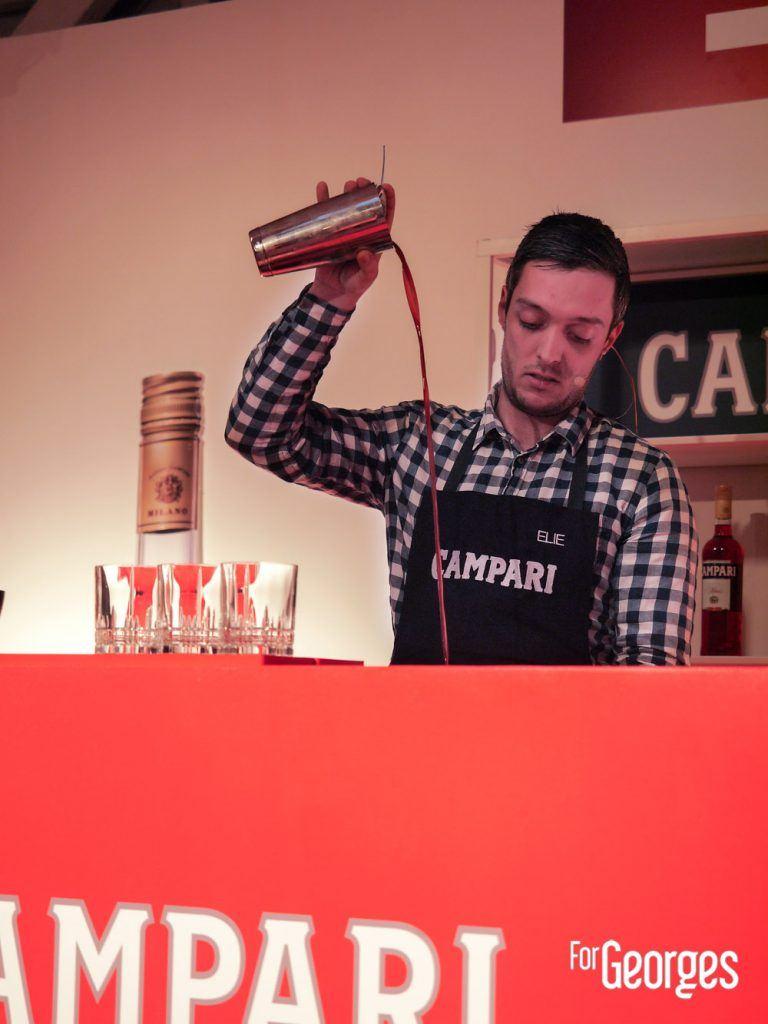 Campari Bartender Competition Elie Favreau, du bar Domaine de Rabat (Talence) avec sa création « De Cognac à Milan »
