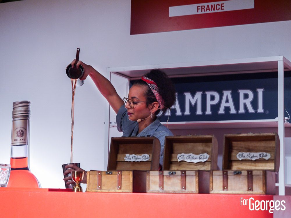Campari Bartender Competition - Julie Cétan, du bar The Mumbaï Café (Lyon) avec sa création « The Reform Club »