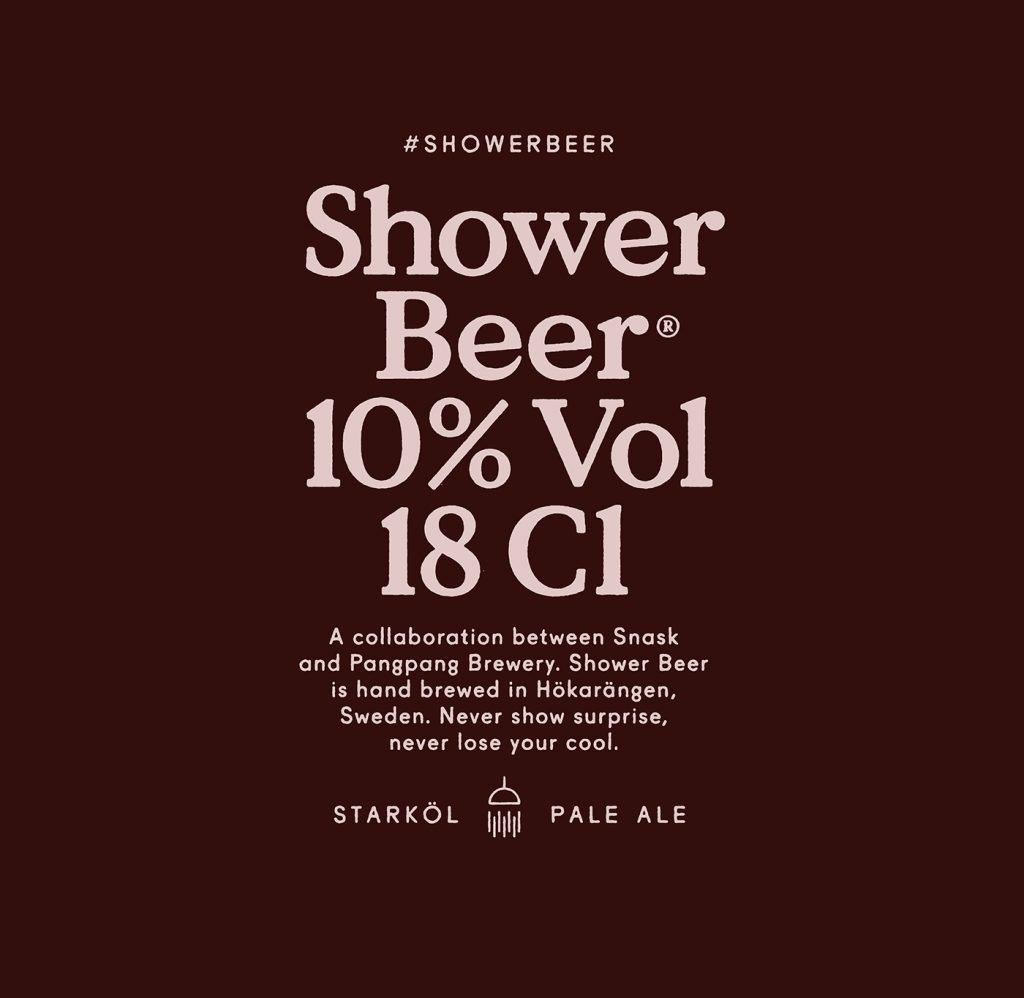 Shower beer, une bière à boire sous la douche