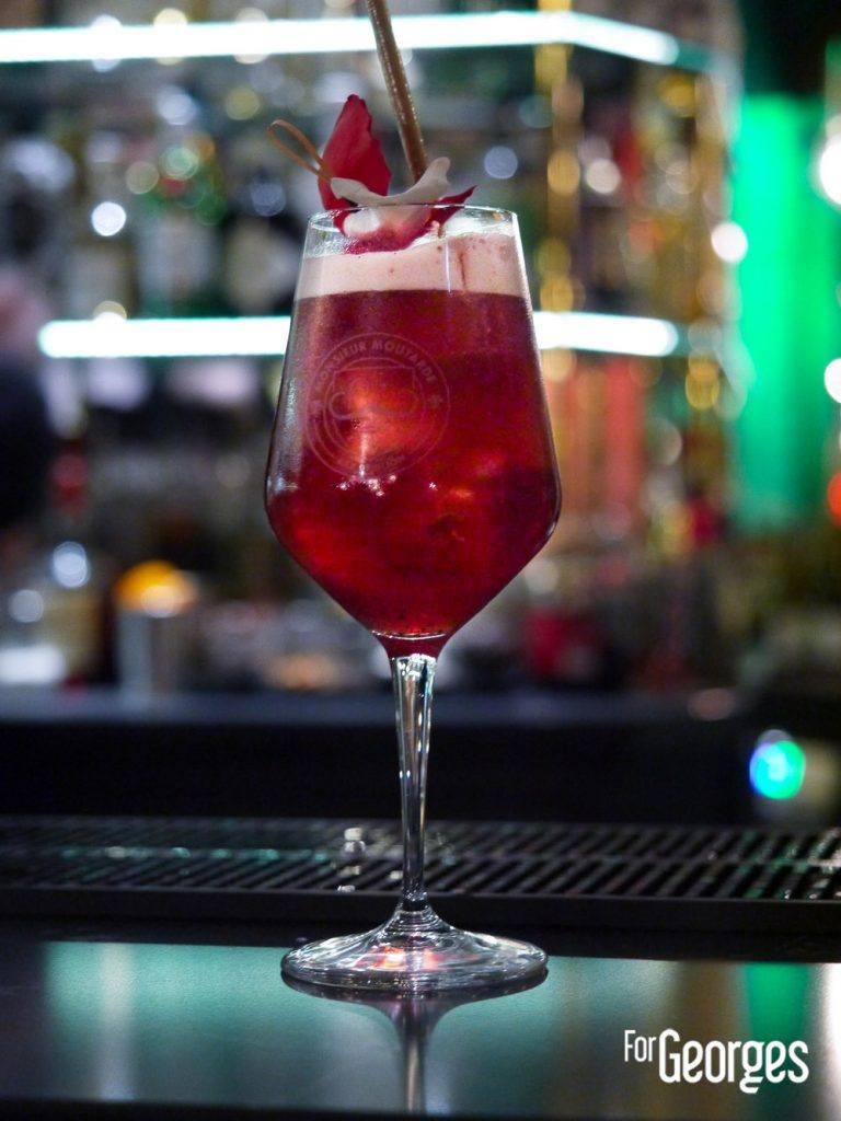 Cocktail à base de Lejay Lagoute crème de cassis Mathieu Le Feuvrier Monsieur Moutarde