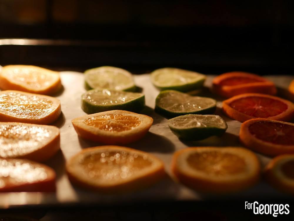 Cuisons des fruits déshydratés au four
