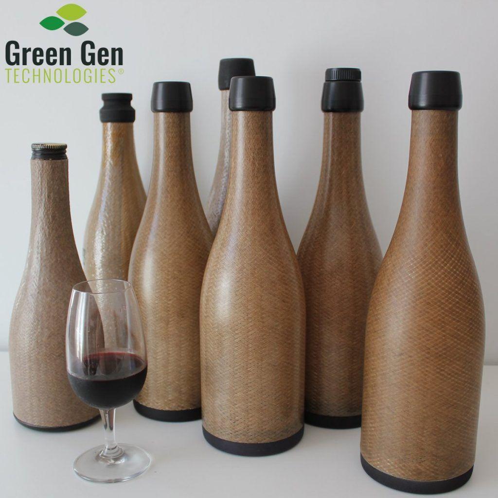 Bouteille de vin écologique sans verre