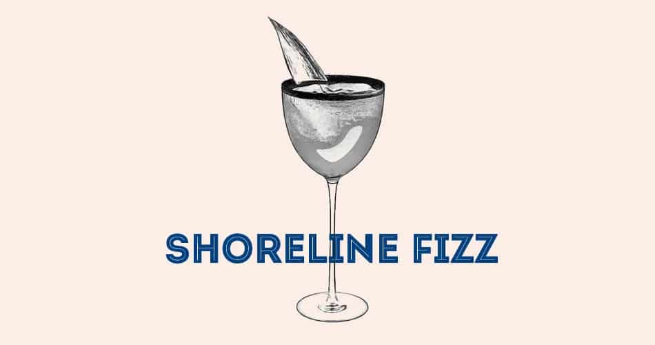 cocktail Shoreline Fizz cognac