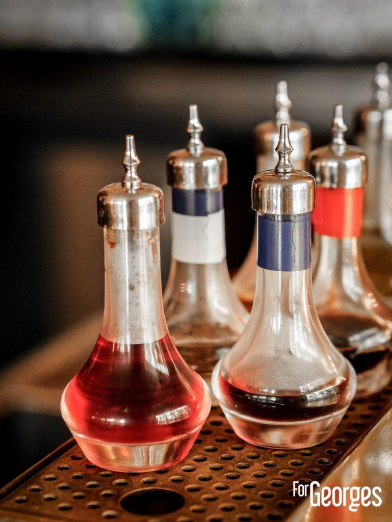 Bitters sur un bar