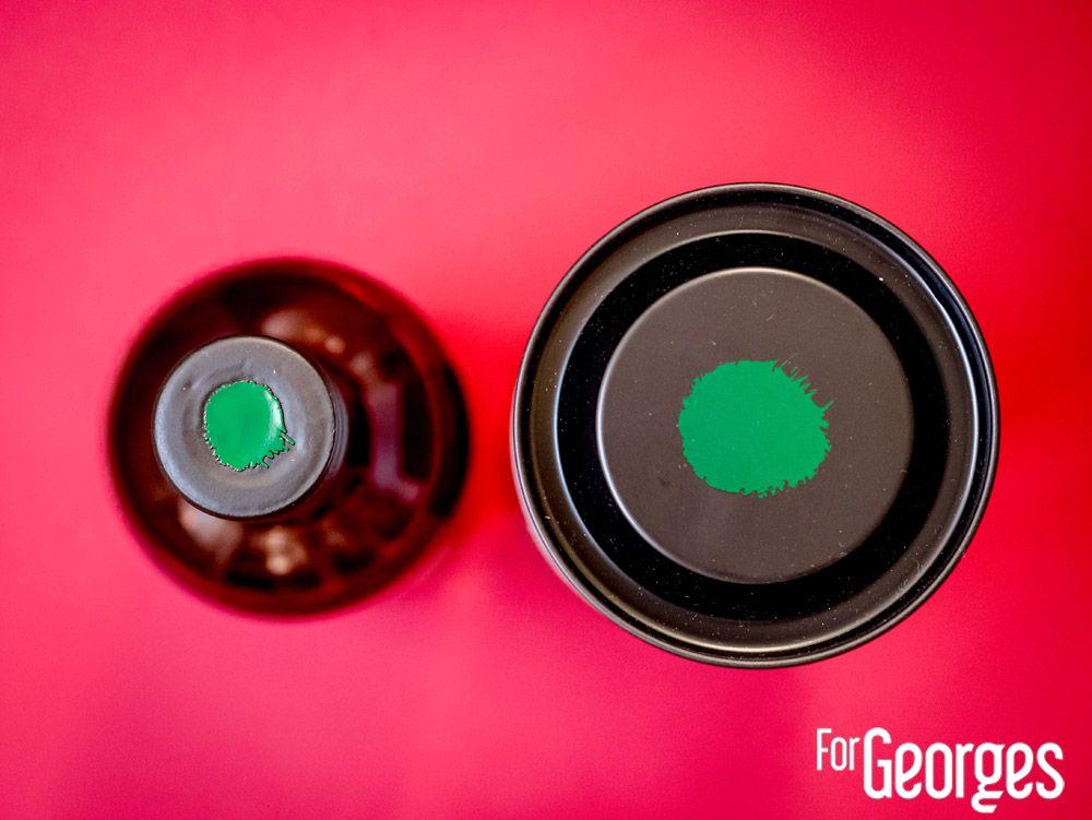 Green Spot Leoville Barton bouteille et boite vue de haut