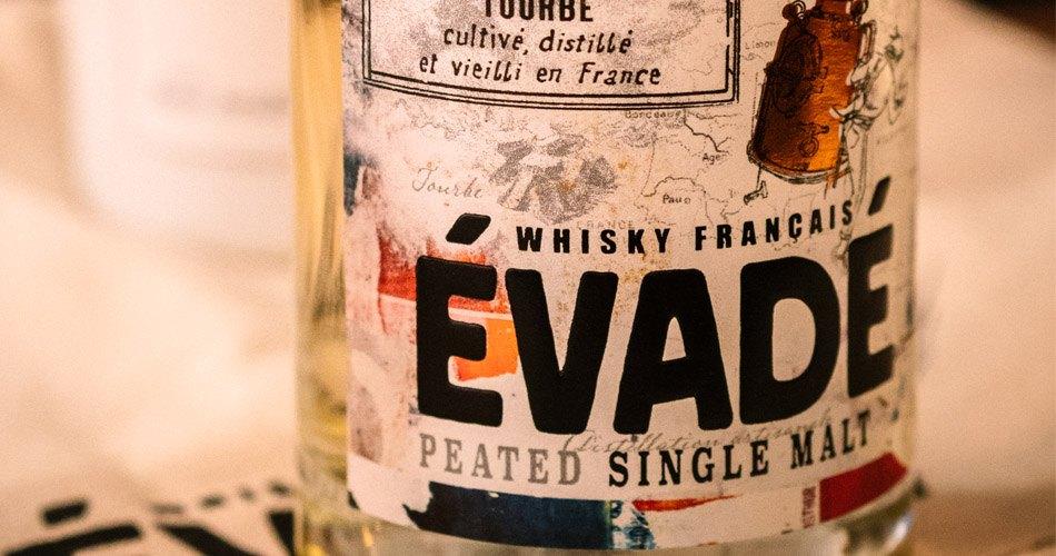 Évadé whisky français étiquette