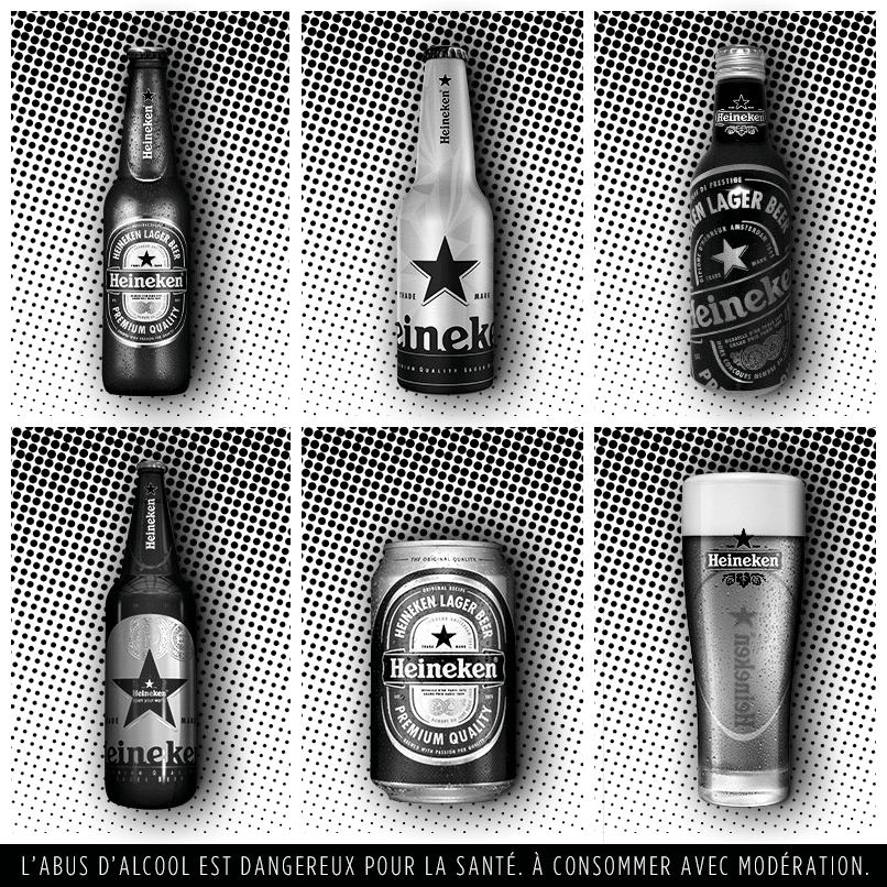 différentes bouteilles bière Heineken