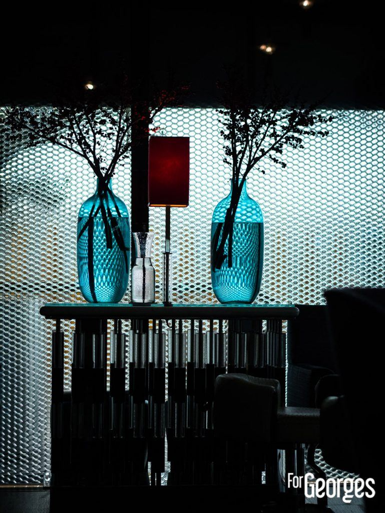 Décoration du Blue Bar à Londres