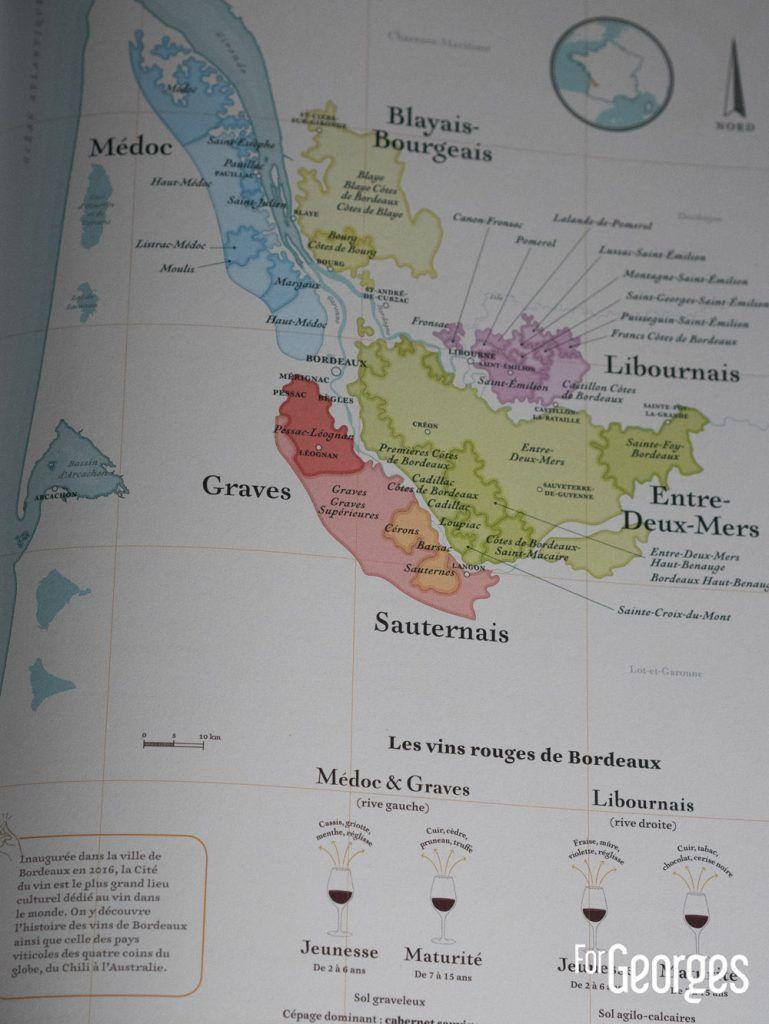 Carte des vins rouges de Bordeaux