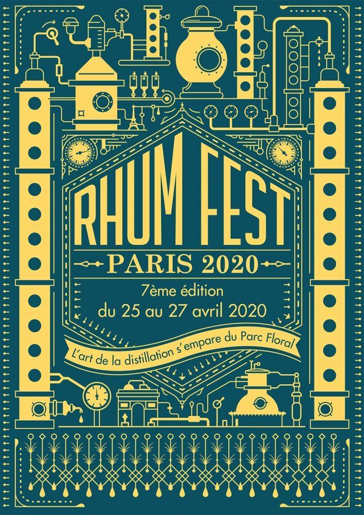 Affiche Rhum Fest Paris 2020