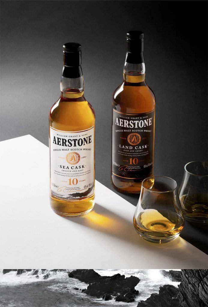 Aerstone whisky bouteilles