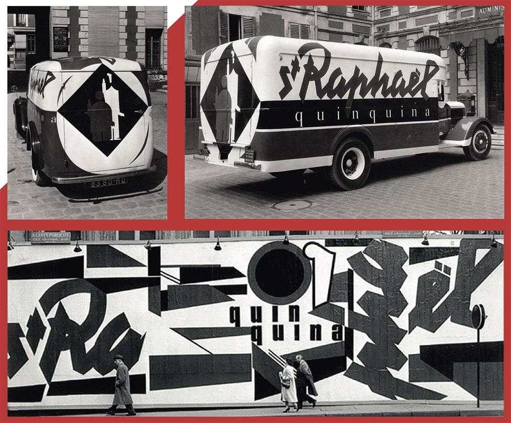 Fresque et camion publicitaire St Raphael